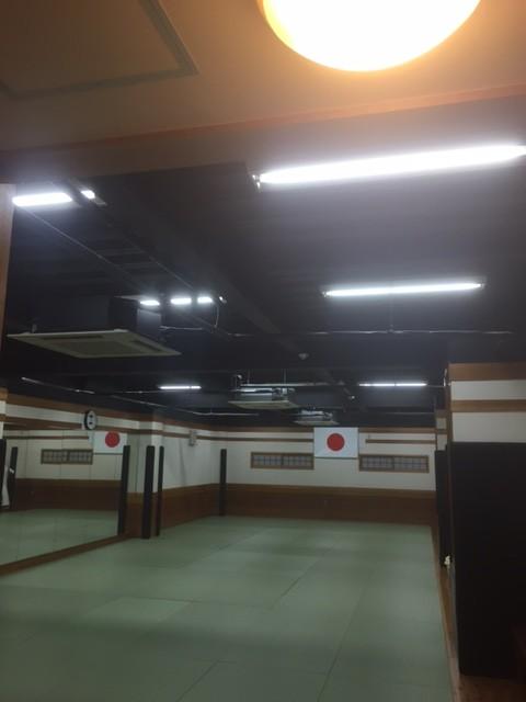 柔道場LED化工事